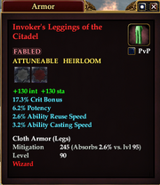 Invoker's Leggings of the Citadel