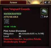 Iron Vanguard Gussets