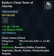 Raider's Chain Tunic of Alacrity