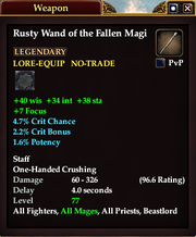Rusty Wand of the Fallen Magi