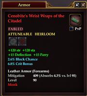 Cenobite's Wrist Wraps of the Citadel