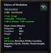 Gloves of Mediation