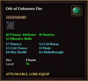 Orb of Unknown Ore