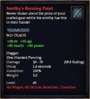 Smithy's Burning Point