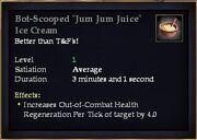Bot-Scooped Jum Jum Juice Ice Cream