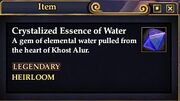 Crystalized Essence of Water