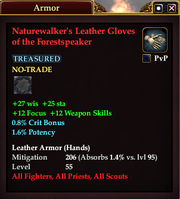 Naturewalker's Leather Gloves of the Forestspeaker