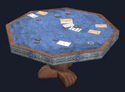 Octagonal mahogany gaming table (Visible)