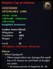 Pinjula's Cap of Alchemy