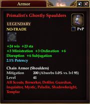 Primalist's Ghostly Spaulders