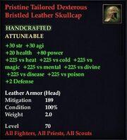 Pristine Tailored Dexterous Bristled Leather Skullcap