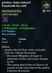 Pristine chaos imbued broadcloth hex doll