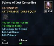 Sphere of Lost Cowardice