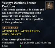 Vesspyr Warrior's Bronze Pauldrons