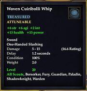Woven Cuiribolli Whip