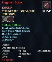 Zorglim's Blade