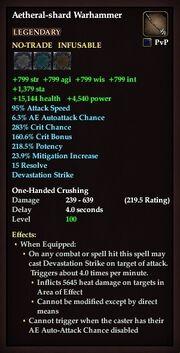 Aetheral-shard Warhammer