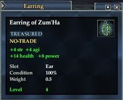 Earring of Zum'Ha