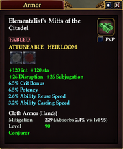 Elementalist's Mitts of the Citadel