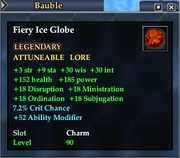 Fiery Ice Globe