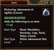 Flickering Adornment of Agility (Lesser)