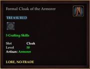 Formal Cloak of the Armourer