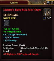 Mentor's Dark Silk Foot Wraps
