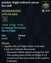 Pristine fright imbued canvas hex doll
