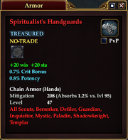 Spiritualist's Handguards