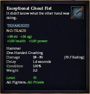 Exceptional Ghoul Fist