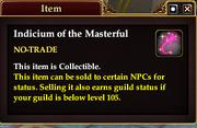 Indicium of the Masterful