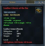 Leather Gloves of the Fae