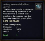 Seafury ceremonial officer gloves
