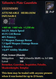 Tallonite's Plate Gauntlets