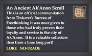 An Ancient Ak'Anon Scroll