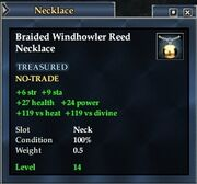 Braided Windhowler Reed Necklace