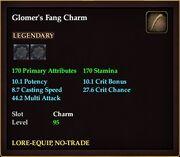 Glomer's Fang Charm