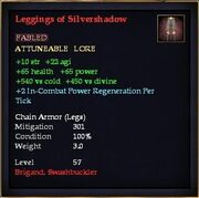 Leggings of Silvershadow