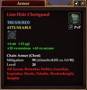 Lion-Hide Chestguard