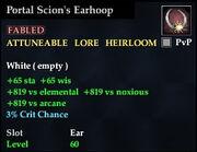 Portal Scion's Earhoop