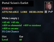 Portal Scion's Earlet