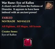 War Rune Eye of Rallos