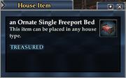 An Ornate Single Freeport Bed