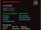 Aphotic Etched Sword