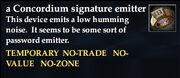 Concordium signature emitter