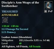 Disciple's Arm Wraps of the Swiftstriker