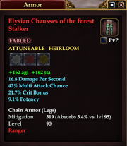 Elysian Chausses of the Forest Stalker