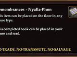 Remembrances - Nyalla-Phon (Book)