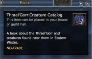 Thrael'Gorr Creature Catalog