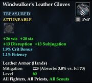 Windwalker's Leather Gloves (Treasured)